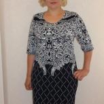Платье трикотажное Самми (абстракция), Вологда